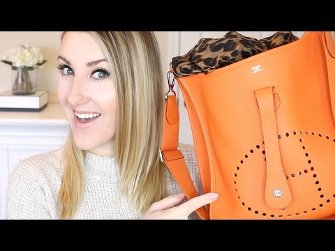 WHAT'S INSIDE MY HERMES BAG?!? ...and best touch-up trick ever.