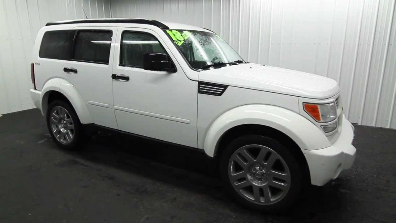 the key 2011 dodge nitro 4d wagon ext white int gray [ 1280 x 720 Pixel ]