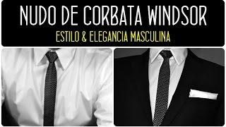 Cómo hacer un nudo de corbata WINDSOR. SÚPER FÁCIL WINDSOR. Cómo atar una corbata WINDSOR