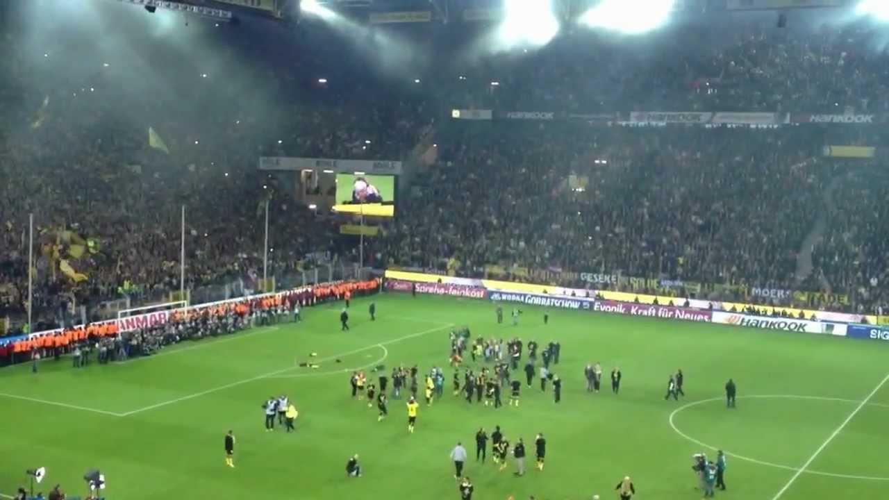 Borussia Dortmund Meisterschaft 2012 Abpfiff Teil 1 21.04.2012
