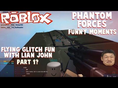 Roblox Phantom Forces Funny Moments Flying Glitch Fun W Lian