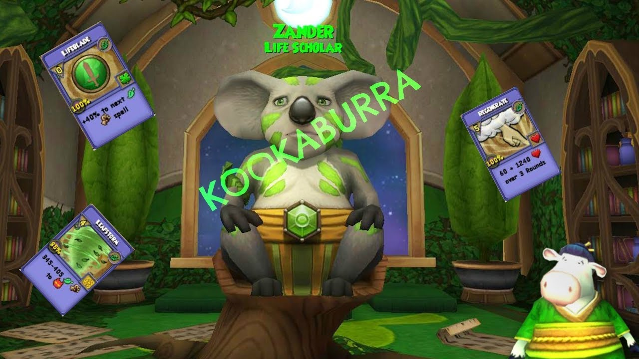 Wizard101 New Life Pet Kookaburra Spell!! (Leafstorm)