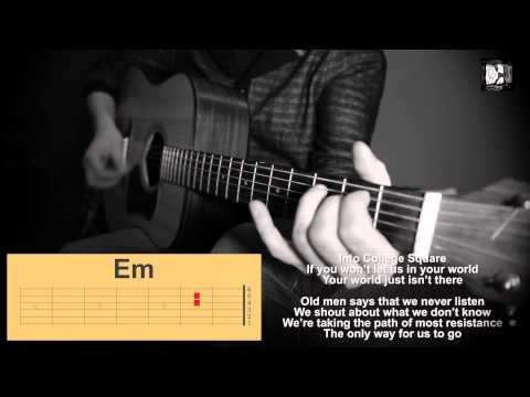 U2 - This Is Where You Can Reach Me Now. How to play. Cover, chords, lyrics
