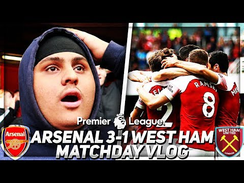 THATS MORE LIKE IT! Arsenal 3-1 West Ham Vlog | 💥AFTV YOUNG GUNZ💥