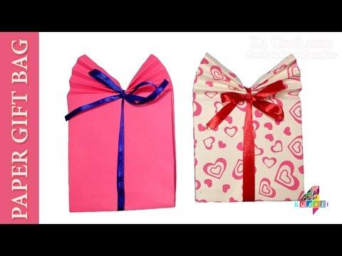 DIY: Paper GIFT BAG (Easy) - Origami Crafts