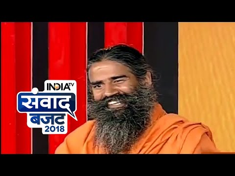 India TV Samvaad on Budget 2018 LIVE: Rs 2000 notes should be banned, says Baba Ramdev