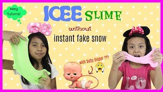 ICEE SNOW SLIME TUTORIAL ♥ EASY WITH NO INSTANT FAKE SNOW POWDER