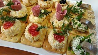 Праздничная закуска на сырных крекерах.(4 вкусных рецепта).