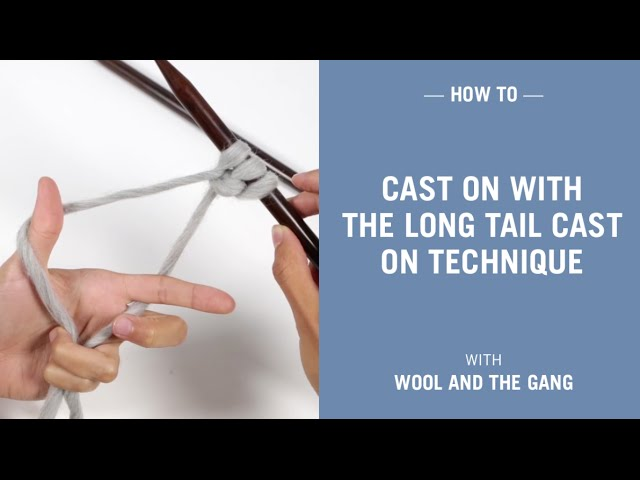 Long Tail Cast On + Sewn Bind Off // Knit Tutorial