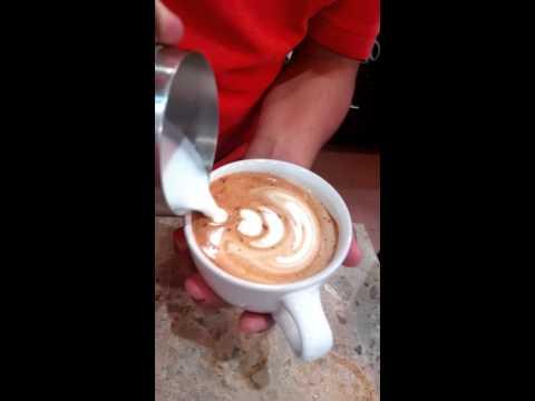 How to make art latte café colibrí Veracruz