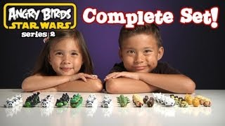 ANGRY BIRDS STAR WARS Series 2 COMPLETE SET!!!  Opening 6 Blind Bags - Complete Figure Set!