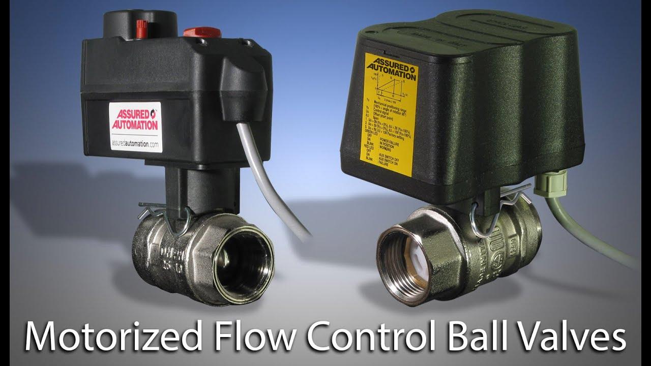Motorized ball valves for hvac youtube for Motorized flow control valve