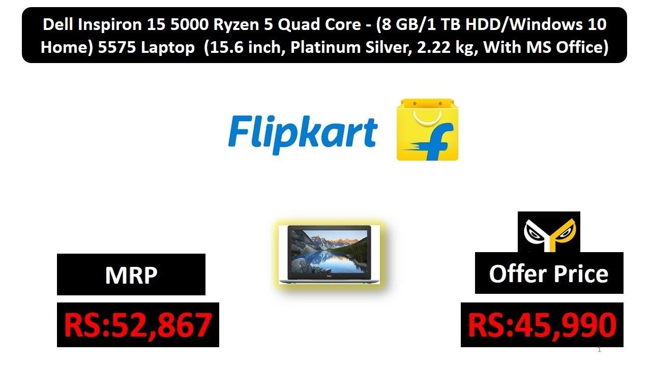 Dell Inspiron 15 5000 Ryzen 5 Quad Core - (8 GB/1 TB HDD/Windows 10 Home)