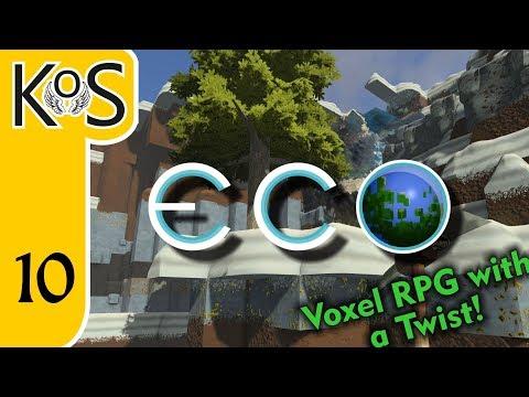 Eco Ep 10: MINING ELEVATOR - Voxel Builder/RPG - Let's Play, Gameplay