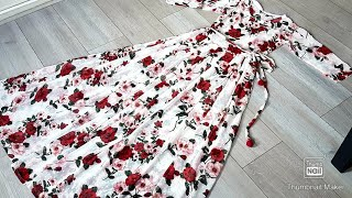 new dress design/long gown / maxi dress cutting and stitching .