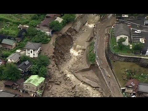 Dramatische Bilder Von Erdrutschen Aus Japan  Youtube
