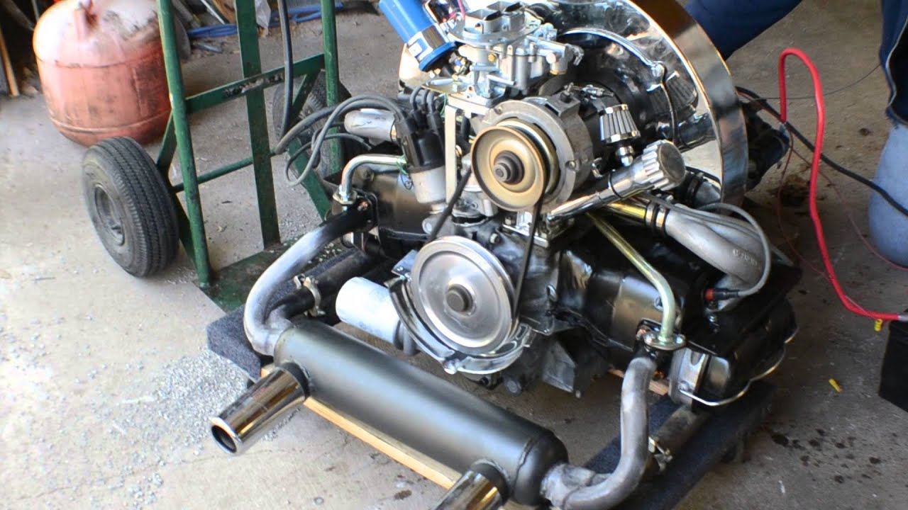 1776cc AirCooled VW Motor with straight cut gears and big valve heads  YouTube