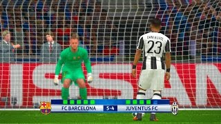 Barcelona vs Juventus 2nd Leg - PES 2017 Penalty Shootout