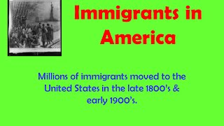 Immigrants in America