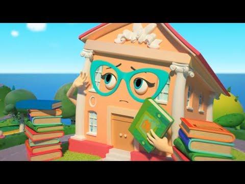 Домики - Библиотека - Серия 50 | новый познавательный мультфильм о путешествиях для детей