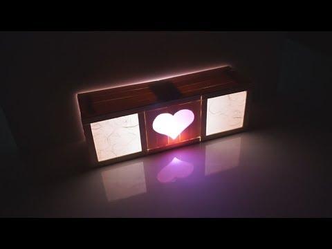 DIY Wood Lighting With Popsicle Sticks! l Interior Craft Ideas Home Decor