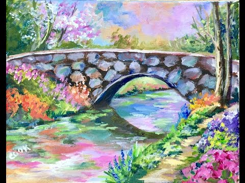 How to Paint a Heavenly Bridge with Ginger Cook for the Beginner Acrylic Artist