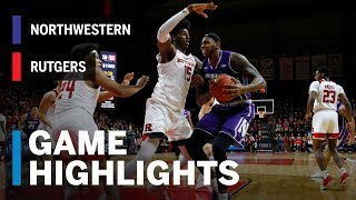 Highlights: Northwestern at Rutgers | Big Ten Basketball