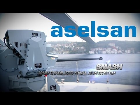 ASELSAN   SMASH 30MM Remote Controlled Stabilized Naval Gun System
