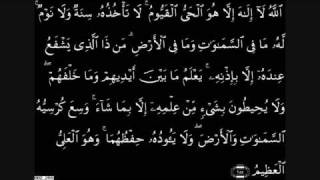 Qari Ziyad Patel - Ayatul Qursi 255-257