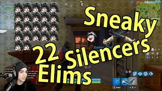 Fortnite 22 elims solo squads, silenced weapons only.