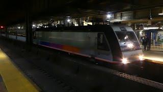 NJトランジット北ジャージー海岸線 ニューアーク・ペン駅到着 NJ Transit North Jersey Coast Line