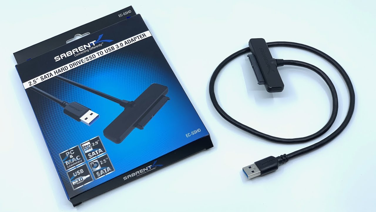 Sabrent USB 3.0 to SSD EC-SSHD 2.5-Inch SATA I//II//III Hard Drive Adapter
