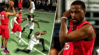 Durant can't believe ankle breaker @ dyckman! nba live 18 the rise gameplay!