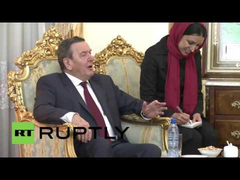 Iran: German ex-Chancellor Schroder talks trade with Iran's Shamkhani