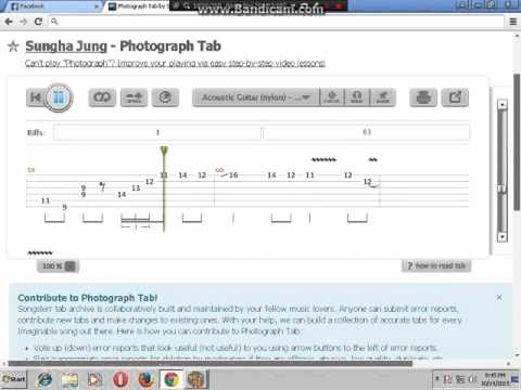 Guitar sungha jung guitar tabs : Vote No on : (Ed Sheeran) Photograph Sungha Jung