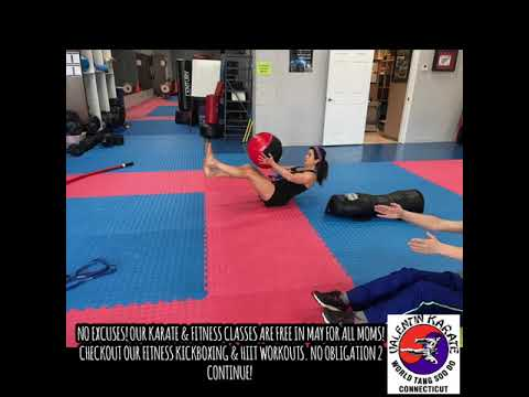 No excuses! Our Karate & fitness classes are FREE in May for all moms! Checkout our Fitness Kickbox…