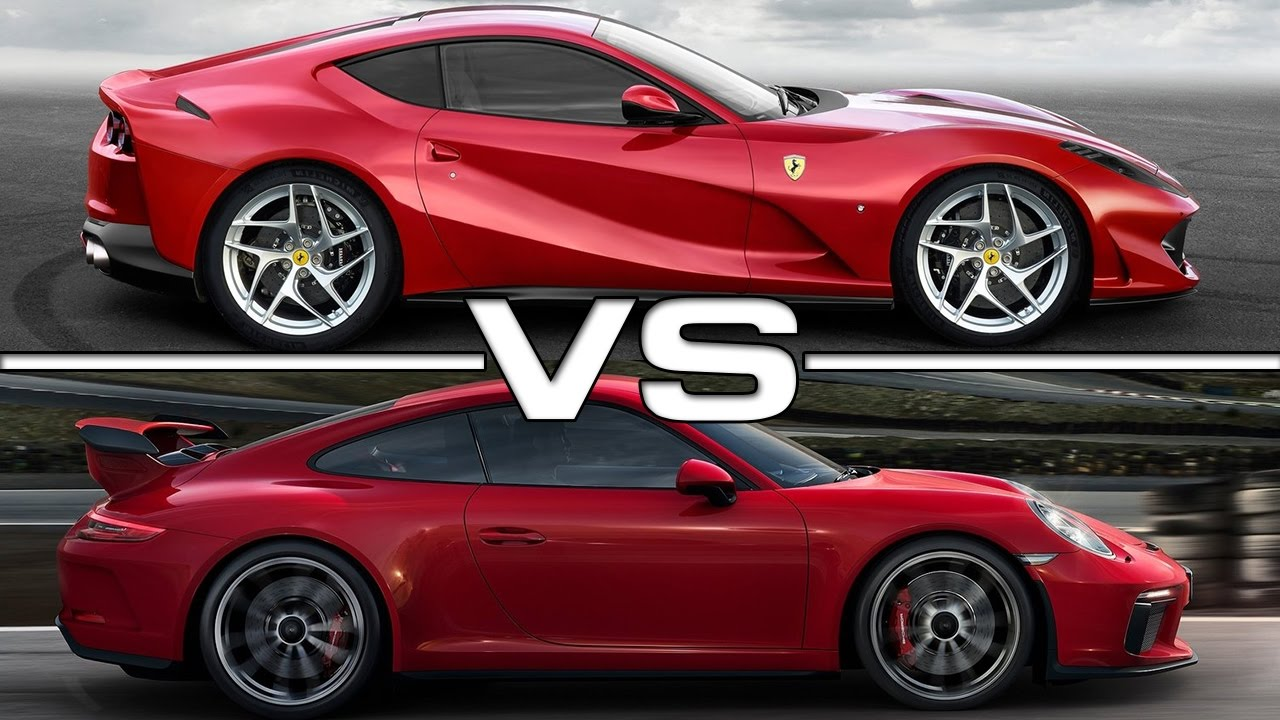 2018 ferrari 812 superfast vs 2018 porsche 911 gt3 youtube. Black Bedroom Furniture Sets. Home Design Ideas