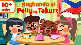 Polly Put the Kettle On in Filipino | Awiting Pambata Song Compilation
