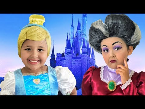 Disney Cinderella And Lady Tremaine Makeup Makeover Halloween Costumes And Toys
