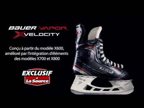 Patin de hockey Vapor X:Velocity de Bauer Exclusif à La Source | La Source du Sport