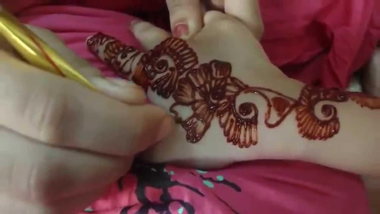 Simple Eid Mehndi Designs 2013 : Eid mehndi designs for kids youtube
