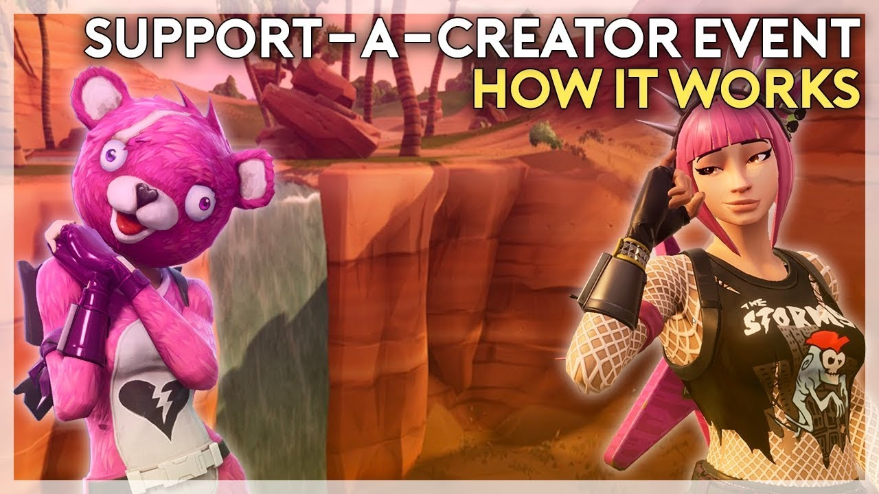 Support-A-Creator Event and How it Works (Fortnite Battle ...