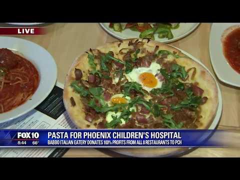 Cory's Corner: Pasta for Phoenix Children's Hospital
