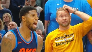 Paul George SHUTS UP BOOING CROWD In Return to Indiana with Clutch Free Throws (Silences Crowd)