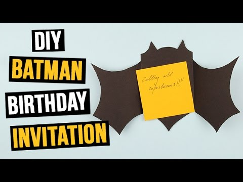 diy batman birthday invitation youtube