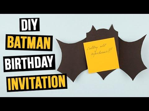 Diy Batman Birthday Invitation You