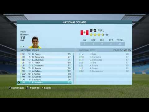 FIFA 16 National Teams - Peru