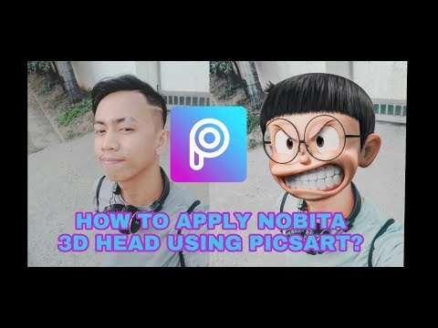 Vlog 8 How To Make Nobita 3d Head Using Picsart Youtube