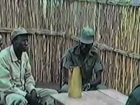 Old film showing John Garang and with the current President of South Sudan Salva Kiir