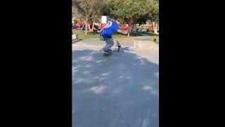 Skateboarding 50-50 Grind Fail